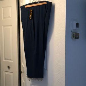 Cotton/Spandex Beaded Bottom Jeans  Sz 16